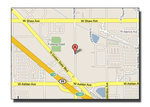 Map to Quick Signs, Fresno California