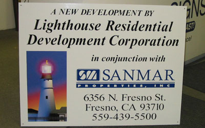 Lighthouse Property Sign