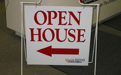 Open House A Frame Sign